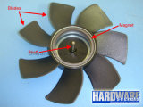 Части охлаждающего вентилятора компьтер-книжки металла отлитые в форму впрыской