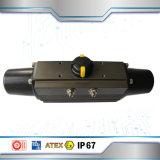 Válvula de borboleta do selo do metal com atuador pneumático