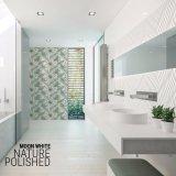 月の屋内のための白によって艶をかけられる内部の陶磁器の浴室の壁のタイル