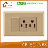 Van China de In het groot Amerikaanse Standaard 3pin Contactdoos van Fabriek Elektro