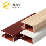 Het houten Profiel van de Decoratie van het Plafond van het Plafond 100*40 van de Korrel Binnenlandse Houten Plastic Samengestelde