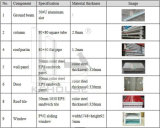 Construcción de edificios prefabricada hermosa del bajo costo de la alta calidad