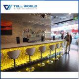 Long compteur de barre d'hôtel extérieur solide acrylique chaud de type
