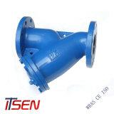 Grobfilter des ASTM A126 geordnetes B Roheisen-Doppelt-Flansch-Y für Kategorie 125/150