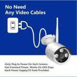 videocamera di sicurezza senza fili di sorveglianza del CCTV del kit del IP NVR di 4CH 960p HD WiFi
