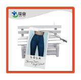 Custom Denim Jeans impreso el logotipo de marca el papel columpio/ Hang Tags