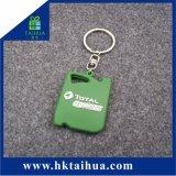 PVC molle a forma di Keychain di promozione all'ingrosso 2D mini con l'anello portachiavi del metallo
