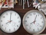 Metal de interior y exterior reloj Higrómetro y termómetro