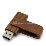 Горячий продавать поворотного флэш-накопитель USB флэш-диск USB с логотипом деловых обедов древесины USB Memory Stick™