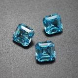 Asscher grossista/Princess Shape CZ Aquamarine Blue Gemstone soltas