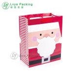 Impreso a todo color de la Navidad de compras bolsa de papel creativo