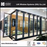 二重ガラスをはめられたガラスが付いているオーストラリアの標準ハイエンドアルミニウムBi折るドア