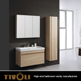 Moderner Badezimmer-Schrank-Melamin-Eitelkeits-Schrank-Finger-Zug-Entwurf TV-0425