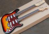 De Douane van de fabriek weert de Dubbele Elektrische Gitaar van de Hals Stratocaster, Rode Parel Pickguard, 12 Koorden +6 af Koorden