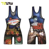 Impression en sublimation Crazy Wrestling singulet réversible
