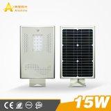 15W conduit Rue lumière solaire pour le 3-Years-Warranty avec certification CE