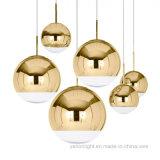 Espelho de Fractius cobre lustre de esferas de vidro moderna Luz Pendente