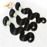 卸売100%の7Aビルマのバージンの毛のよこ糸の自然なカラーTanglefree