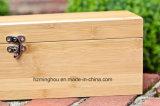 Einzelnes hölzernes Wein-Kasten-Geschenk-gesetzter Ablagekasten mit Plättchen-Oberseite