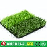 Relva artificial de grama de futebol barata com apoio de borracha