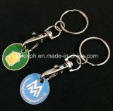 Correntes chaves da moeda macia simples do trole dos lados do dobro do esmalte do ferro