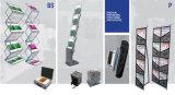 Складывая пол шкафа словесности стоя портативная стойка индикации шкафа брошюры будочки A4 выставки кассеты черная, рекламируя держатель словесности хлопает вверх