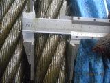 Черный тавот 41mm кабеля 6X19 A2 веревочки стального провода