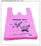 Sac personnalisable de T-shirt de transporteur de gilet de HDPE/LDPE