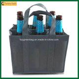 Poliéster por mayor 9 botellas de vino bolsa de asas (TP-WB063)