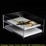 Étagère en plastique acrylique d'étalage de livre de deux rangées pour l'étalage de table