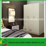 Armário de madeira novo do armário do Wardrobe do quarto da melamina (preço de fábrica)