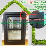 良質のアルミニウム木製のWindows、優秀な開き窓Wood Foldable不安定なハンドルが付いているアルミニウムWindows