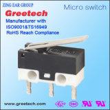 Типа ??subminiature электрический рычаг контакта микровыключателя 0.1A 3A для инструментов и машин