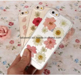 2016 신제품 iPhone 6 6s 이동 전화 덮개 케이스를 위한 Handmade 실제적인 꽃 TPU/실리콘 전화 상자