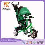 3つのカラー多機能の赤ん坊の三輪車の子供三輪車