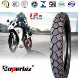 18 pouces nouveau OEM 6pr de la courroie de nylon mélangés de caoutchouc naturel des pneus diagonaux Pattern de basse pression des pneus de moto (3.00-18) avec l'ISO