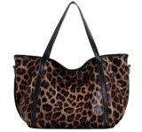 Новой модели леопарда зерна неподдельной кожи печатание отдыха Мешка изготовленный на заказ плеча повелительницы