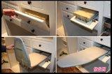 Белый шкаф с выдвижной ящик с пятнами фронтах (W-43)