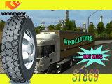 Doupro 상표 타이어 295/75r22.5는 반 상업적인 트럭 타이어를 도매한다