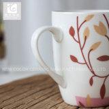 Tazza di tè quotidiana della porcellana di uso con il marchio dell'azienda o il corpo bianco