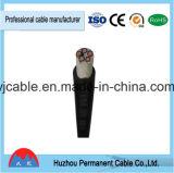 4 cable forrado aislado PVC de cobre 2017 de China de la marca de fábrica del cable de transmisión del PVC de la base VV/Vlv del cable 300mm2 0.6/1kv de la base X VV