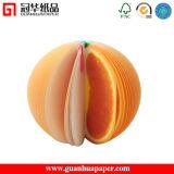 3D Oranje Kleverige Nota Aangepaste Kleverige Blocnote van het Fruit