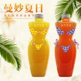 Plastic Pet Clear Water Juice Beverage Bouteille 400ml La forme d'un être humain