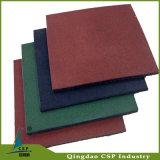 Tuile en caoutchouc de couvre-tapis de sûreté de plancher de cour de jeu avec la conformité d'ASTM