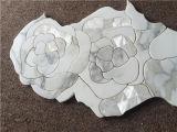 Плитка мозаики конструкции цветка раковины золота Calacatta цены высокого качества дешевым смешанная мрамором водоструйная