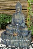 Монах Polyresin открытый большой сад с фонтаном светодиодный индикатор