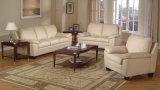 Sofá moderno do couro da sala de visitas da mobília popular
