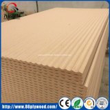 Madera Firbre 3D Panel de pared Raw MDF Baseboard