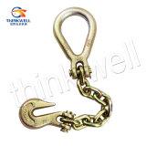 Gancho de gancho para el ojo de la galjanoplastia del cinc con la cadena y el anillo de la horquilla
