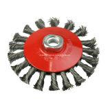 Cepillo de alambre de acero biselado anudado